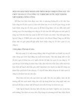 MỘT SỐ GIẢI PHÁP NHẰM GÓP PHẦN HOÀN THIỆN CÔNG TÁC TỔ CHỨC QUẢN LÝ CỦA CÔNG TY TNHH NHÀ NƯỚC MỘT THÀNH VIÊN DIESEL SÔNG CÔNG