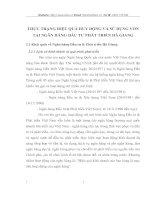 THỰC TRẠNG HIỆU QUẢ HUY ĐỘNG VÀ SỬ DỤNG VỐN TẠI NGÂN HÀNG ĐẦU TƯ PHÁT TRIỂN HÀ GIANG