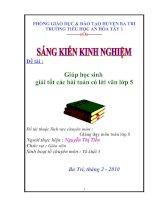 SKKN- Giúp HS giải tốt các bai toan có lời văn lớp 5