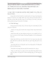 HOẠCH ĐỊNH CHIẾN LƯỢC KINH DOANH CỦA CÔNG TY TNHH SẢN XUẤT & THƯƠNG MẠI BẢO HỘ LAO ĐỘNG ĐẠI AN TOÀN ĐẾN NĂM 2015