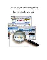 Search Engine Marketing (SEM) – làm thế nào cho hiệu quả