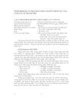 TÌNH HÌNH QUẢN TRỊ CHẤT LƯỢNG NGUỒN NHÂN LỰC TẠI CÔNG TY SỨ THANH TRÌ