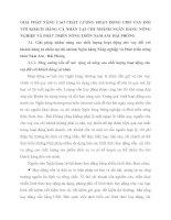 GIẢI PHÁP NÂNG CAO CHẤT LƯỢNG HOẠT ĐỘNG CHO VAY ĐỐI VỚI KHÁCH HÀNG CÁ NHÂN TẠI CHI NHÁNH NGÂN HÀNG NÔNG NGHIỆP VÀ PHÁT TRIỂN NÔNG THÔN NAM AM - HẢI PHÒNG