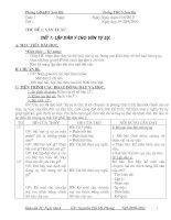 Giáo án Ngữ văn 6 tự chọn -4 cột Quảng Ngãi