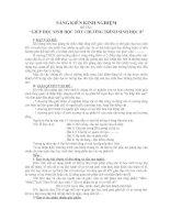 Sáng kiến Kinh nghiệm: GIÚP HỌC SINH HỌC TỐT CHƯƠNG TRÌNH SINH HỌC 8