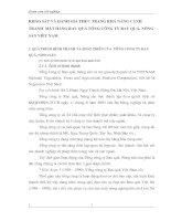 KHẢO SÁT VÀ ĐÁNH GIÁ THỰC TRẠNG KHẢ NĂNG CẠNH TRANH  MẶT HÀNG RAU QUẢ TỔNG CÔNG TY RAU QUẢ, NÔNG SẢN VIỆT NAM