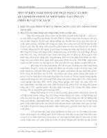 MỘT SỐ KIẾN NGHỊ NHẰM GÓP PHẦN NÂNG CAO HIỆU QUẢ KINH DOANH XUẤT NHẬP KHẨU TẠI CÔNG TY THIẾT BỊ VẬT TƯ DU LỊCH
