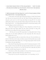 GIẢI PHÁP NHẰM TĂNG CƯỜNG HOẠT ĐỘNG       CHO VAY ĐỐI VỚI DOANH NGHIỆP TẠI NGÂN HÀNG TMCPCTVN CHI NHÁNH HOÀNG MAI