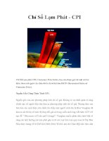 Chỉ Số Lạm Phát - CPI