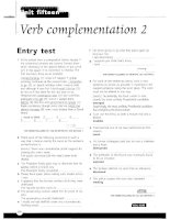 Grammar and Vocabulary for Cambridge Advanced and Proficiency - Verb complamentation 2
