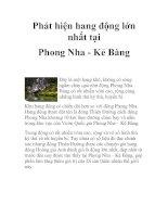 Phát hiện hang động lớn nhất tại Phong Nha - Kẻ Bàng