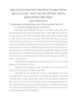 MỘT SỐ GIẢI PHÁP ĐẨY MẠNH XUẤT KHẨU HÀNG HOÁ CỦA VIỆT  NAM VÀO THỊ TRƯỜNG TRUNG QUỐC TRONG ĐIỀU KIỆN