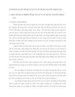 CƠ SỞ LÝ LUẬN VỀ QUẢN LÝ VÀ SỬ DỤNG NGUÔN NHÂN LỰC