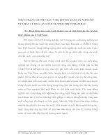 THỰC TRẠNG ATVSTP RAU V HỆ THỐNG QUẢN LÝ NH NƯỚC VỀ CHẤT LƯỢNG, AN TOÀN VỆ SINH THỰC PHẨM RAU