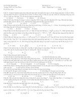 đề thi Lý 12 cơ bản