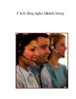 Cách lắng nghe khách hàng