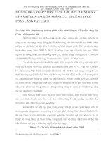 MỐT SỐ BIỆN PHÁP NHẰM NÂNG CAO HIỆU QUẢ QUẢN LÝ VÀ SỬ DỤNG NGUỒN NHÂN LỰCTẠI CÔNG TY CỔ PHẦN CẢNG VẬT CÁCH