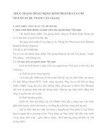 THỰC TRẠNG HOẠT ĐỘNG KINH DOANH CỦA CHI NHÁNH DƯỢC PHẨM VĂN GIANG