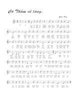 Bài hát cô thắm về làng - Giao Tiên (lời bài hát có nốt)