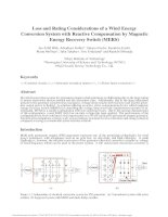 Tài liệu tiếng anh Điện tử công suất mạch MERS Loss and rating consideration of a wind energy conversion system with reactive compensation by magnetic energy recovery switch