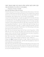 THỰC TRẠNG HIỆU QUẢ HỌAT ĐÔNG KÊNH PHÂN PHỐI TIÊU THỤ SẢN PHẨM CỦA CÔNG TY VINAMILK