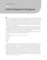 Instant Keyboard Response