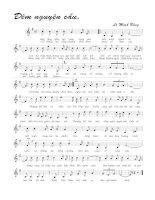 Bài hát đêm nguyện cầu - Lê Minh Bằng (lời bài hát có nốt)