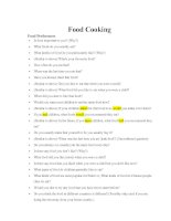 question for beginners class -Food Cooking