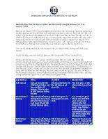 Backup phục hồi dữ liệu và phục hồi hệ thống trong Windows XP Pro/ Server 2003