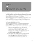 Working with Temporal Data