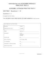 ACADEMIC PRATICE TEST 5 FOR IELTS
