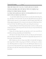 MỘT SỐ NHẬN XÉT VÀ CÁC Ý KIẾN ĐỀ XUẤT NHẰM NÂNG CAO HIỆU QUẢ SỬ DỤNG VỐN LƯU ĐỘNG TẠI CÔNG TY TNHH TM HÀ THANH