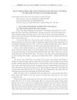 THỰC TRẠNG CÔNG TÁC HẠCH TOÁN NGUYÊN VẬT LIỆU  TẠI CÔNG TY SẢN XUẤT VÀ DỊCH VỤ CƠ ĐIỆN HÀ NỘI