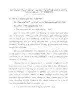 PHƯƠNG HƯỚNG VÀ NHỮNG GIẢI PHÁP CƠ BẢN ĐỂ XĐGN Ở HUYỆN VĨNH BẢO, THÀNH PHỐ HẢI PHÒNG