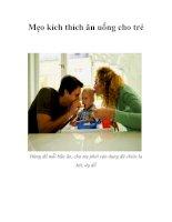 Mẹo kích thích ăn uống cho trẻ