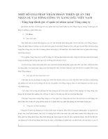 MỘT SỐ GIẢI PHÁP NHẰM HOÀN THIỆN QUẢN TRỊ NHÂN SỰ TẠI TỔNG CÔNG TY XĂNG DẦU VIỆT NAM