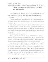 KIẾN NGHỊ NHẰM HOÀN THIỆN CÔNG TÁC KẾ TOÁN VỀ TẬP HỢP CHI PHÍ VÀ TÍNH GIÁ THÀNH TẠI CÔNG TY CỔ PHẦN HOÁ DƯỢC VIỆT NAM