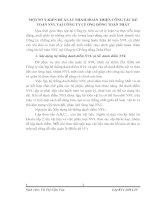 MỘT SỐ Ý KIẾN ĐỀ XUẤT NHẰM HOÀN THIỆN CÔNG TÁC KẾ TOÁN NVL TẠI CÔNG TY CP ỐNG ĐỒNG TOÀN PHÁT