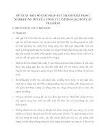 ĐỀ XUẤT MỘT SỐ GIẢI PHÁP ĐẨY MẠNH HOẠT ĐỘNG MARKETING MIX CỦA CÔNG TY CỔ PHẦN GẠCH ỐP LÁT THÁI BÌNH
