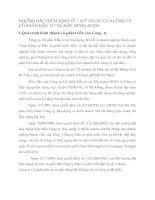 NHỮNG ĐẶC ĐIỂM KINH TẾ -  KỸ THUẬT CỦA CÔNG TY CỔ PHẦN ĐẦU TƯ VÀ XÂY DỰNG HUD3