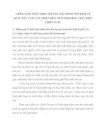 CHIẾN LƯỢC PHÁT TRIỂN THƯƠNG MẠI TRONG NỀN KINH TẾ QUỐC DÂN VÀ SỰ CẦN THIẾT PHÂN TÍCH TÌNH HÌNH  THỰC HIỆN CHIẾN LƯỢC