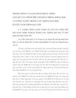 PHƯƠNG HƯỚNG VÀ GIẢI PHÁP HOÀN THIỆN CƠ CHẾ TÀI CHÍNH ĐỐI VỚI HOẠT ĐỘNG KHOA HỌC VÀ CÔNG NGHỆ TRONG CÁC TRƯỜNG ĐẠI HỌC Ở VIỆT NAM THỜI GIAN TỚI
