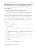 MỘT SỐ GIẢI PHÁP NHẰM NÂNG CAO CÔNG  TÁC QUẢN TRỊ SẢN XUẤT KINH DOANH CỦA CÔNG TY TNHH THƯƠNG MẠI VÀ CÔNG NGHIỆP MỸ VIỆT