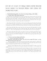 CƠ SỞ LÝ LUẬN VỀ HOẠT ĐỘNG KINH DOANH XUẤT KHẨU VÀ NGÀNH HÀNG THỦ CÔNG MỸ NGHỆ VIỆT NAM