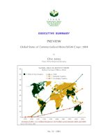 Global Status of Commercialized Biotech/GM Crops: 2004