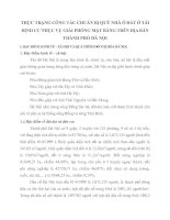 THỰC TRẠNG CÔNG TÁC CHUẨN BỊ QUỸ NHÀ Ở ĐẤT Ở TÁI ĐỊNH CƯ PHỤC VỤ GIẢI PHÓNG MẶT BẰNG TRÊN ĐỊA BÀN THÀNH PHỐ HÀ NỘI