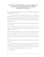 Ý kiến đế xuất nhằm đẩy mạnh hoạt động cho vay đối với doanh nghiệp tại chi nhánh NHNo