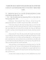 Ý KIẾN ĐỀ XUẤT NHẲM TĂNG CƯỜNG QUẢN LÝ RỦI RO LÃI SUẤT TẠI NGÂN HÀNG ĐẦU TƯ VÀ PHÁT TRIỂN VIỆT NAM