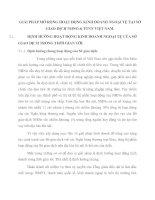 GIẢI PHÁP MỞ RỘNG HOẠT ĐỘNG KINH DOANH NGOẠI TỆ TẠI SỞ GIAO DỊCH NHNO