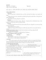 BÀI 11. VẬN CHUYỂN CÁC CHẤT QUA MÀNG SINH CHẤT